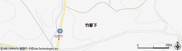 岩手県一関市室根町津谷川(竹野下)周辺の地図