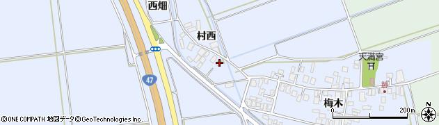 山形県東田川郡庄内町跡村西周辺の地図