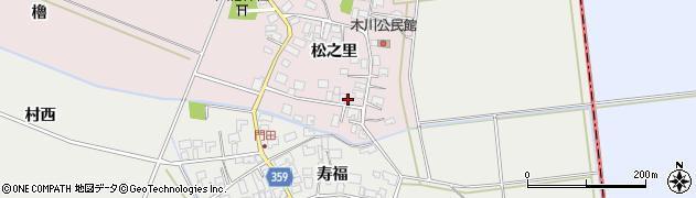 山形県酒田市木川松之里28周辺の地図
