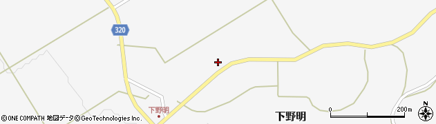 山形県最上郡金山町下野明712周辺の地図