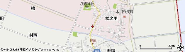 山形県酒田市木川堰中瀬1周辺の地図