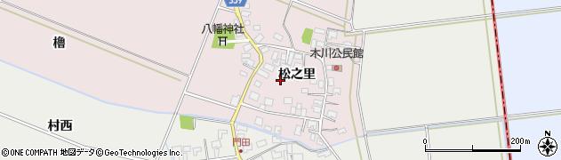 山形県酒田市木川松之里周辺の地図
