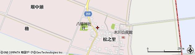 山形県酒田市木川松之里73周辺の地図