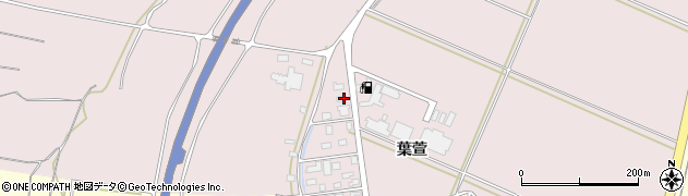 山形県酒田市坂野辺新田葉萱周辺の地図