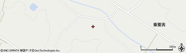 岩手県一関市花泉町金沢清水堤周辺の地図