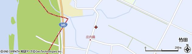 山形県酒田市竹田(竹ノ下)周辺の地図