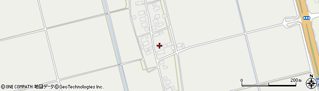 山形県酒田市広野下中村周辺の地図