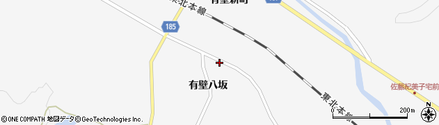 宮城県栗原市金成有壁八坂周辺の地図