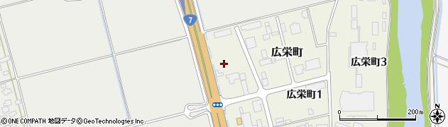 山形県酒田市広栄町1丁目周辺の地図