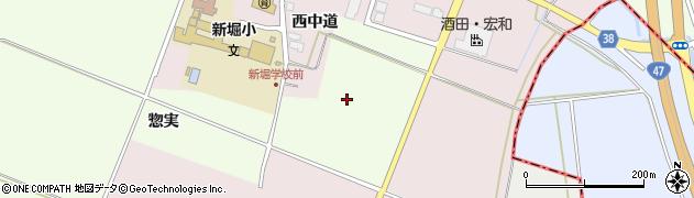 山形県酒田市新堀平成周辺の地図