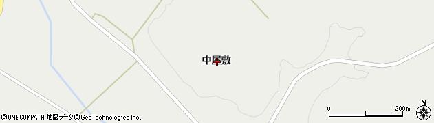 岩手県一関市花泉町金沢中屋敷周辺の地図