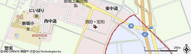 山形県酒田市木川東中道20周辺の地図