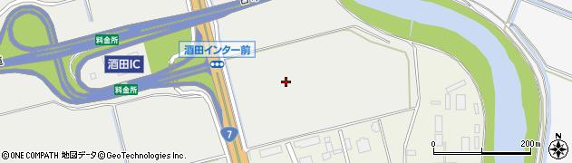 山形県酒田市広野(堰東)周辺の地図