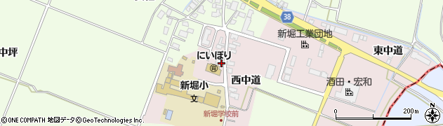 山形県酒田市木川周辺の地図