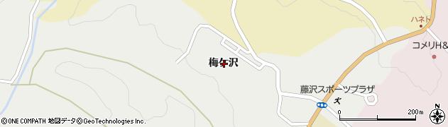 岩手県一関市藤沢町藤沢梅ケ沢周辺の地図