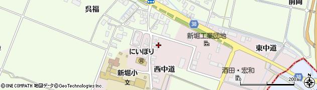 山形県酒田市木川西中道周辺の地図
