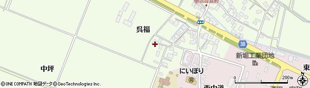 山形県酒田市新堀呉福22周辺の地図