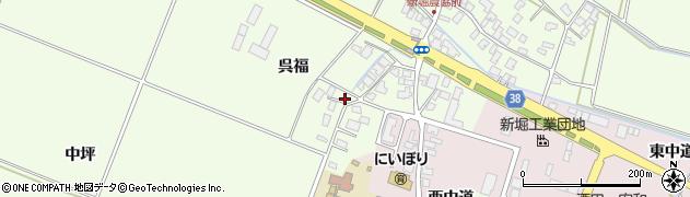 山形県酒田市新堀呉福57周辺の地図
