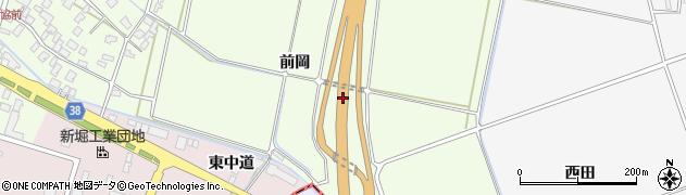 山形県酒田市新堀(前岡)周辺の地図