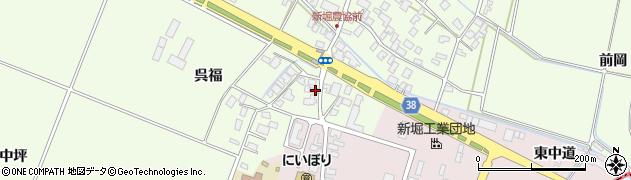 山形県酒田市新堀呉福115周辺の地図