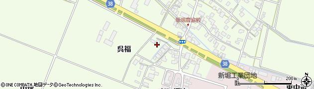 山形県酒田市新堀呉福15周辺の地図