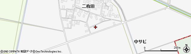 山形県酒田市丸沼中サビ周辺の地図