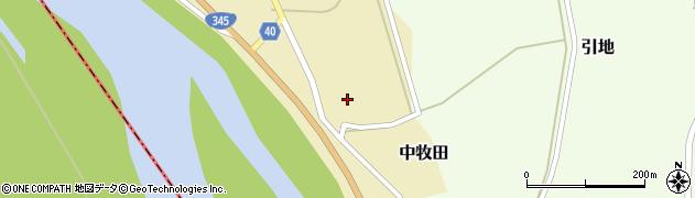 山形県酒田市中牧田前田81周辺の地図
