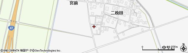 山形県酒田市丸沼二枚田21周辺の地図
