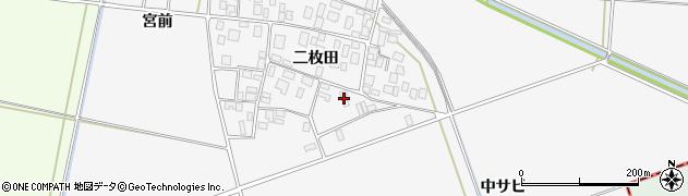 山形県酒田市丸沼二枚田7周辺の地図