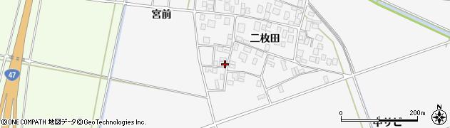 山形県酒田市丸沼二枚田45周辺の地図