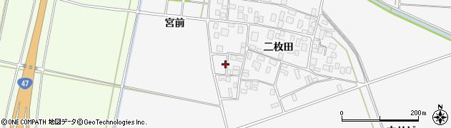 山形県酒田市丸沼二枚田47周辺の地図