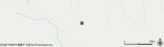 岩手県一関市花泉町金沢沢周辺の地図