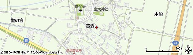山形県酒田市新堀豊森63周辺の地図