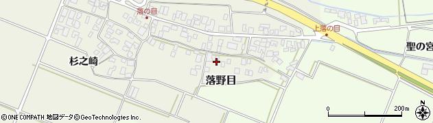山形県酒田市落野目十寸穂62周辺の地図