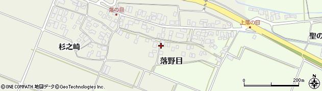 山形県酒田市落野目十寸穂54周辺の地図