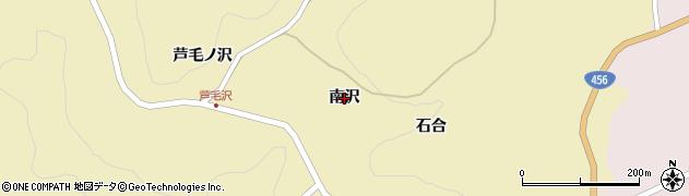 岩手県一関市藤沢町新沼(南沢)周辺の地図
