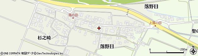 山形県酒田市落野目十寸穂52周辺の地図