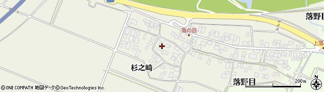 山形県酒田市落野目杉之崎44周辺の地図