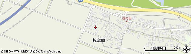 山形県酒田市落野目杉之崎169周辺の地図