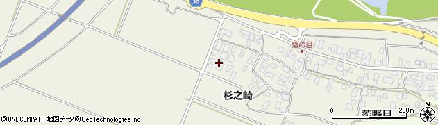 山形県酒田市落野目杉之崎168周辺の地図