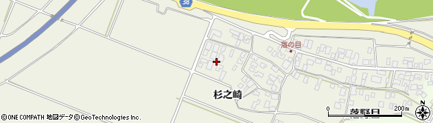 山形県酒田市落野目杉之崎周辺の地図