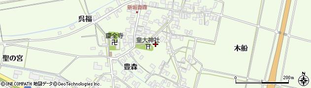 山形県酒田市新堀豊森115周辺の地図