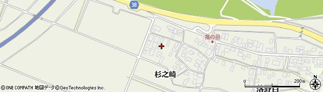 山形県酒田市落野目杉之崎163周辺の地図