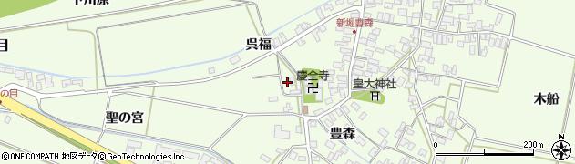 山形県酒田市新堀呉福2周辺の地図