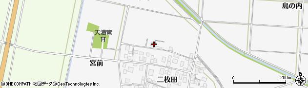 山形県酒田市丸沼中島周辺の地図