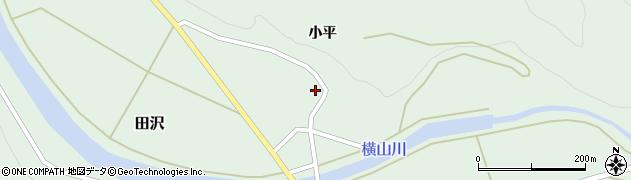 山形県酒田市田沢小平38周辺の地図