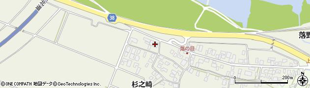 山形県酒田市落野目川前周辺の地図