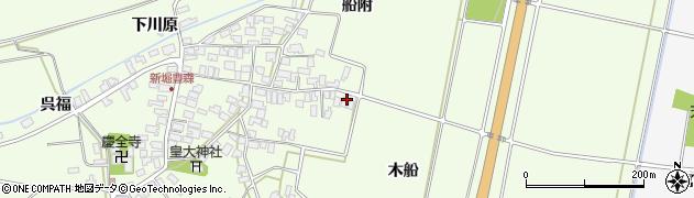 山形県酒田市新堀木船32周辺の地図