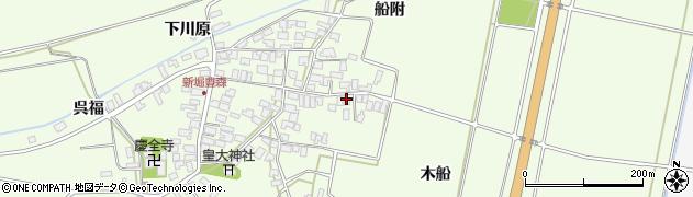 山形県酒田市新堀木船148周辺の地図
