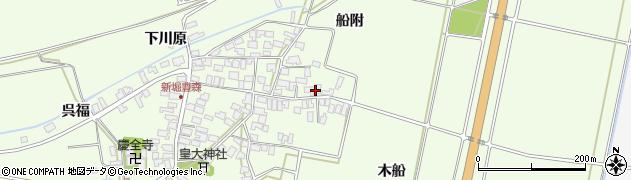 山形県酒田市新堀船附94周辺の地図
